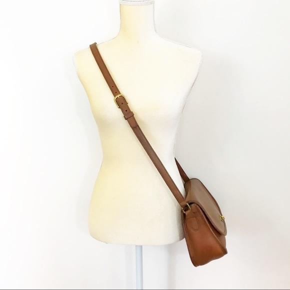 Coach Handbags - Vintage Coach • Cognac Leather Saddlebag Crossbody